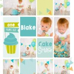 cake smash collage photography london ontario