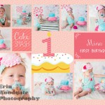 girl collage cake smash photography london ontario