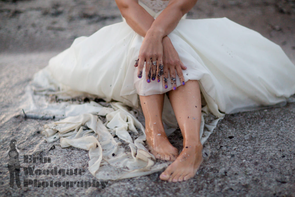 Trash the dress photography London Ontario