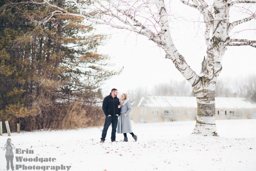 winter engagement photography london ontario