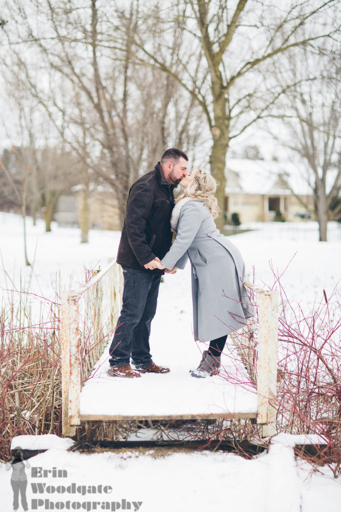 winter engagement photography Arva ontario