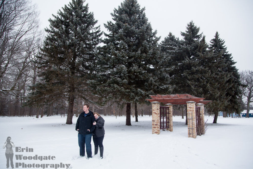 snow engagement photography london ontario