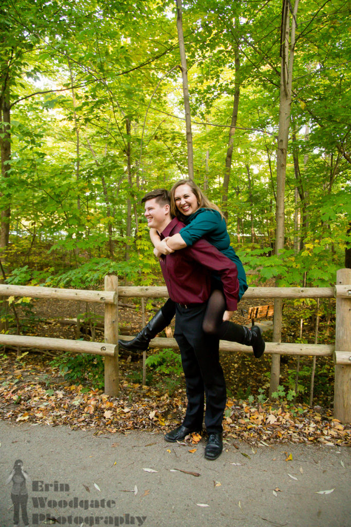fall engagement photographer London Ontario